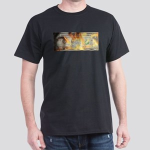 Burning Dollar Dark T-Shirt